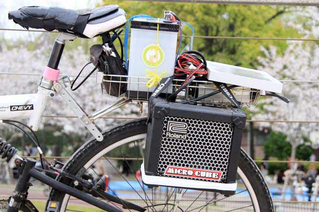 自転車を電源車に。