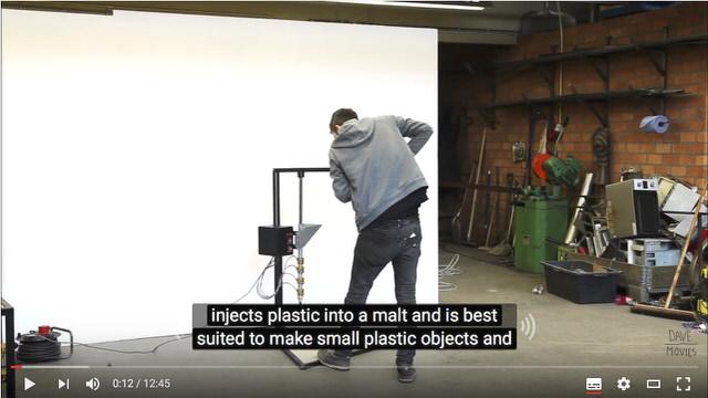 【プラスチック再生のプププ】インジェクションマシン(射出機)を作る解説映像
