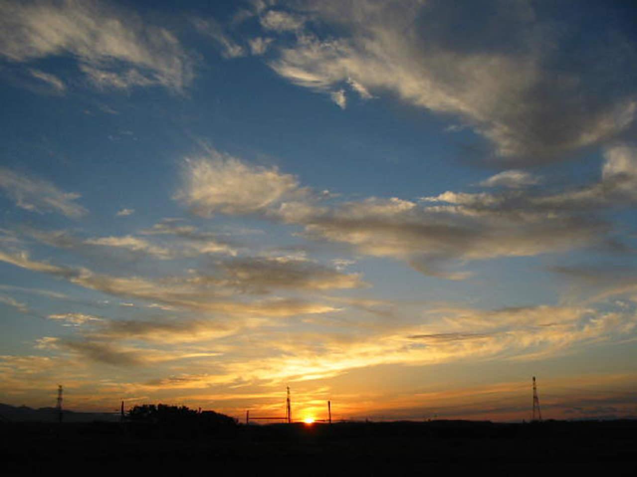 六ヶ所村の夕陽