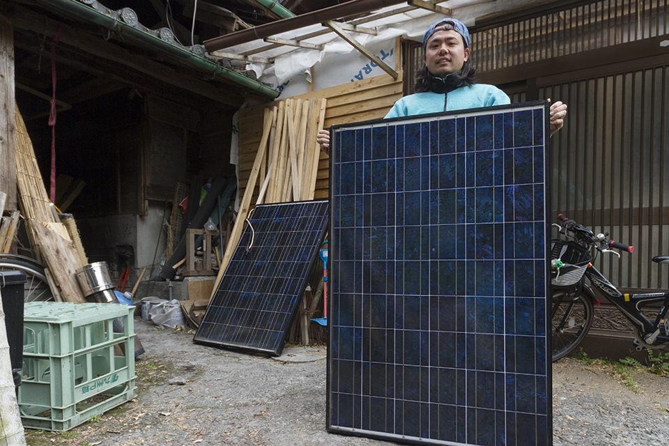 ソーラーパネル増設