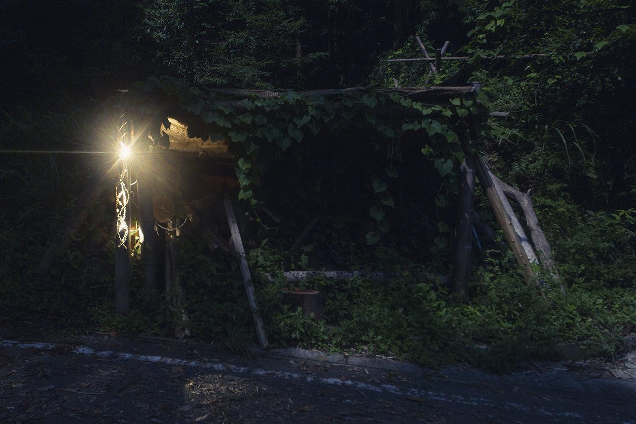 水力発電と竹灯籠