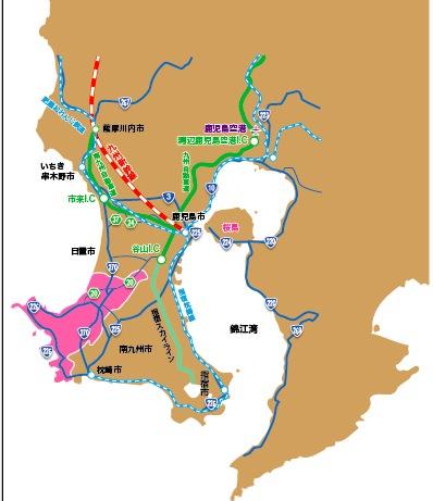 南さつま地図