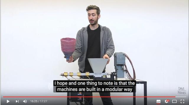 【プラスチック再生のプププ】エクストルージョンマシン(押出機)を作る解説映像