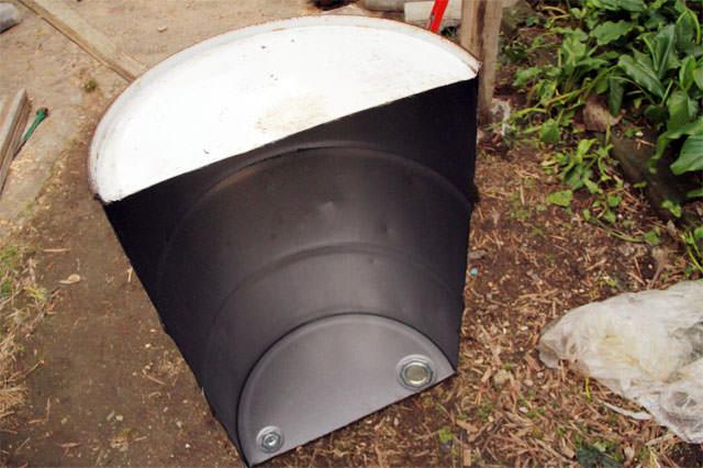 ドラム缶ピザ窯
