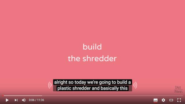 【プラスチック再生のプププ】シュレッダーを作る解説映像